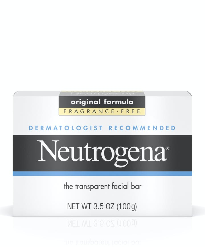 Neutrogena Dermatologist-Recommended Original Face Soap Bar with Glycerin