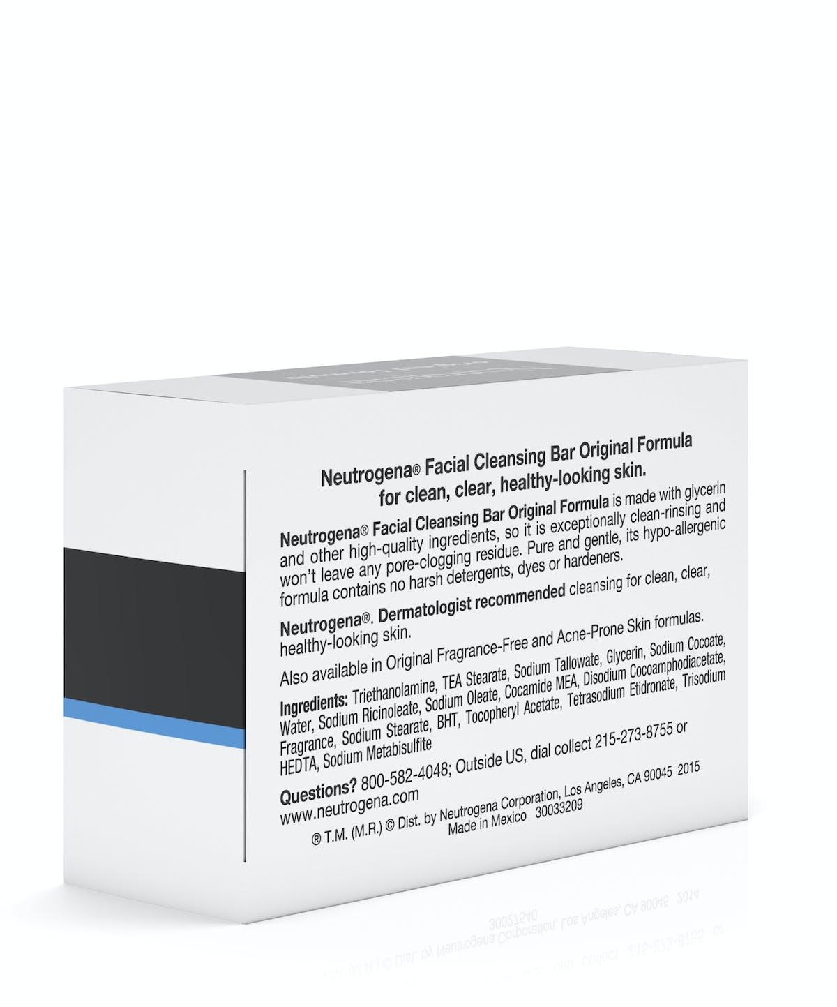 Facial Cleansing Bar Neutrogena Cleanser Original