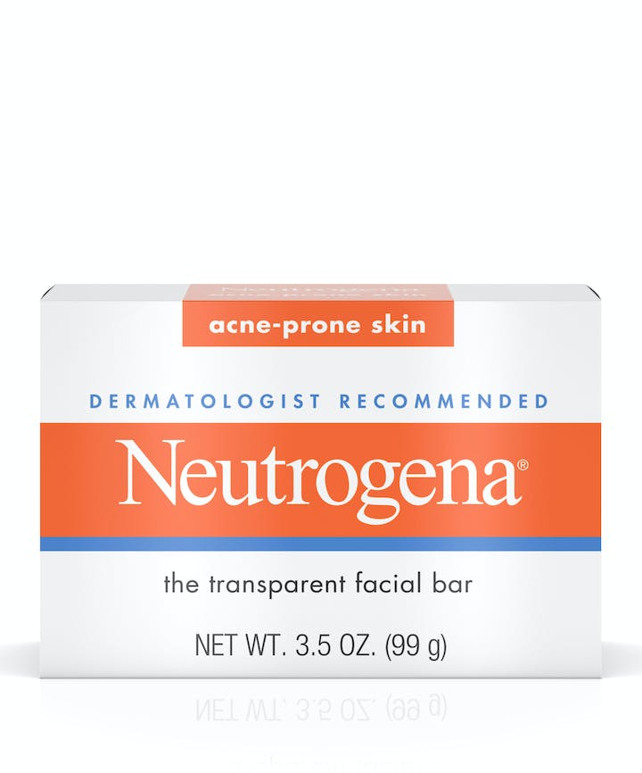 Neutrogena Glycerin Soap Bar for Acne-Prone Skin, Dye-Free, Non-Comedogenic