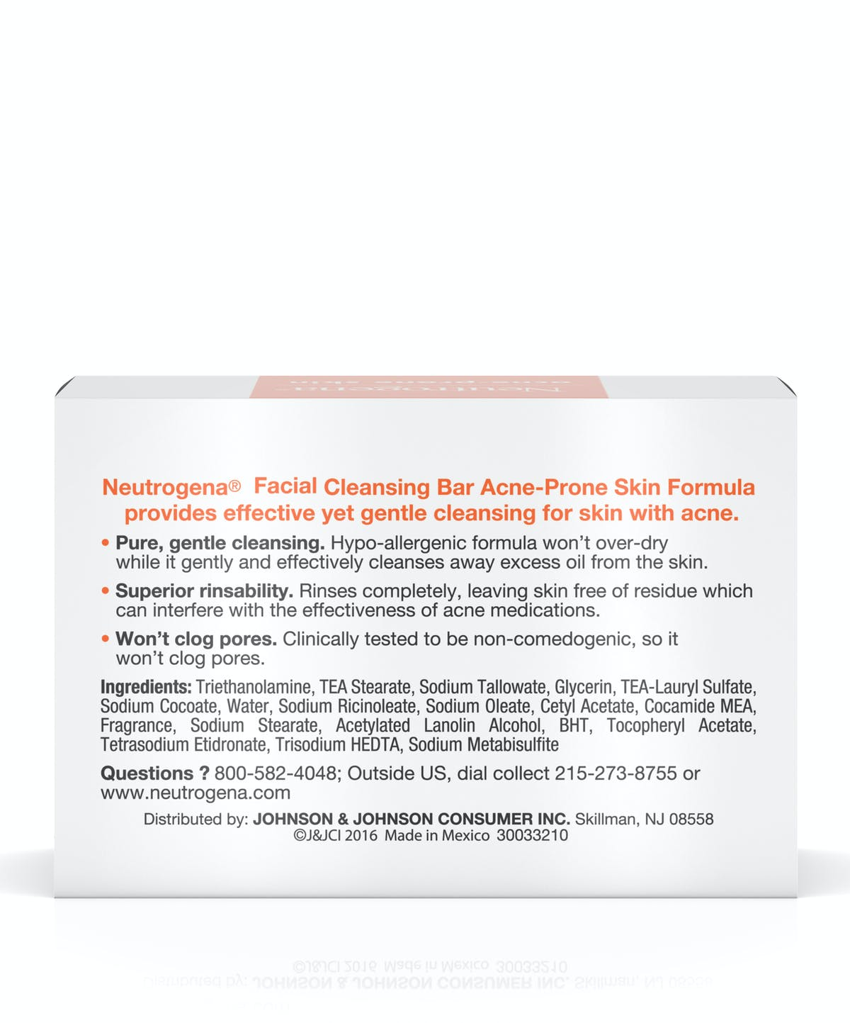 Facial Cleansing Bar For Acne Prone Skin Neutrogena