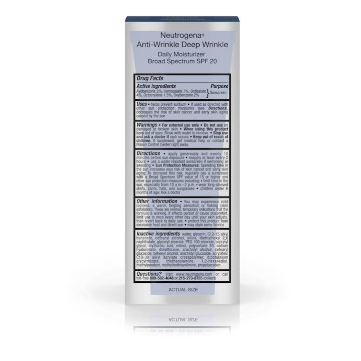 Ageless Intensives® Anti-Wrinkle Deep Wrinkle Daily Moisturizer Broad Spectrum SPF 20