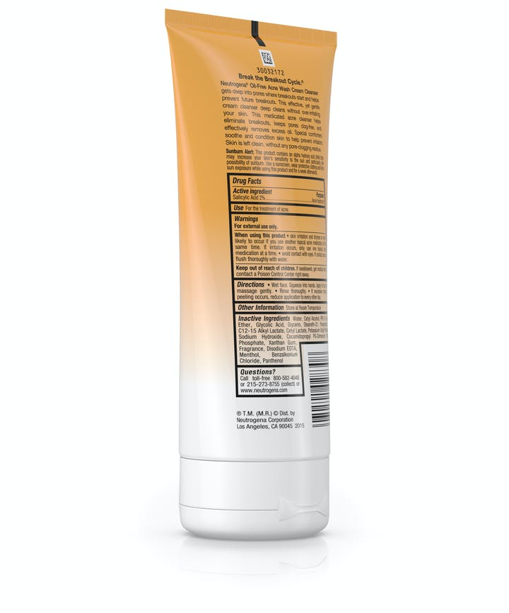 Oil-Free Acne Wash Cream Cleanser