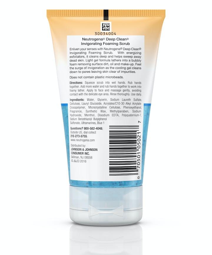 Deep Clean® Invigorating Foaming Scrub