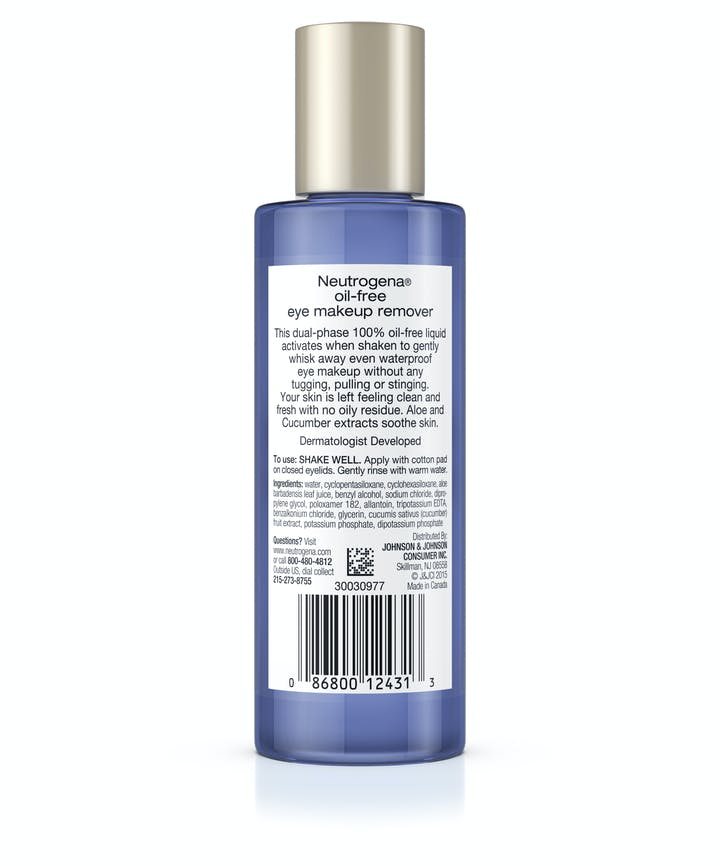 Gentle Oil-Free Liquid Eye Makeup Remover for Waterproof Mascara