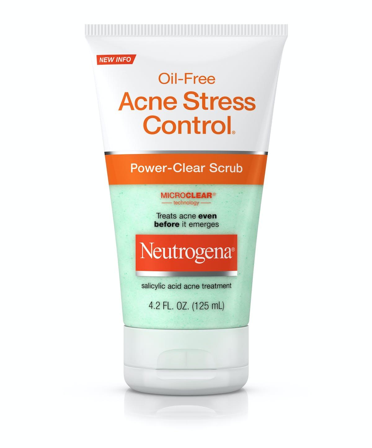 Oil-Free Acne Stress Control® Power-Clear Scrub   Neutrogena® c6990fb501b