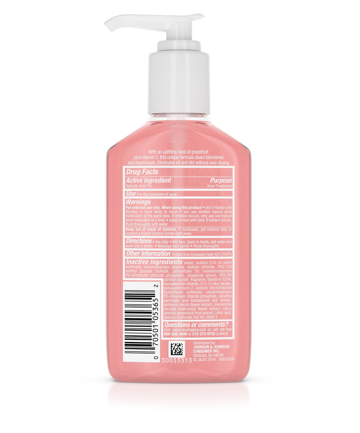 1db28ccfd49 Oil-Free Acne Wash Pink Grapefruit Facial Cleanser