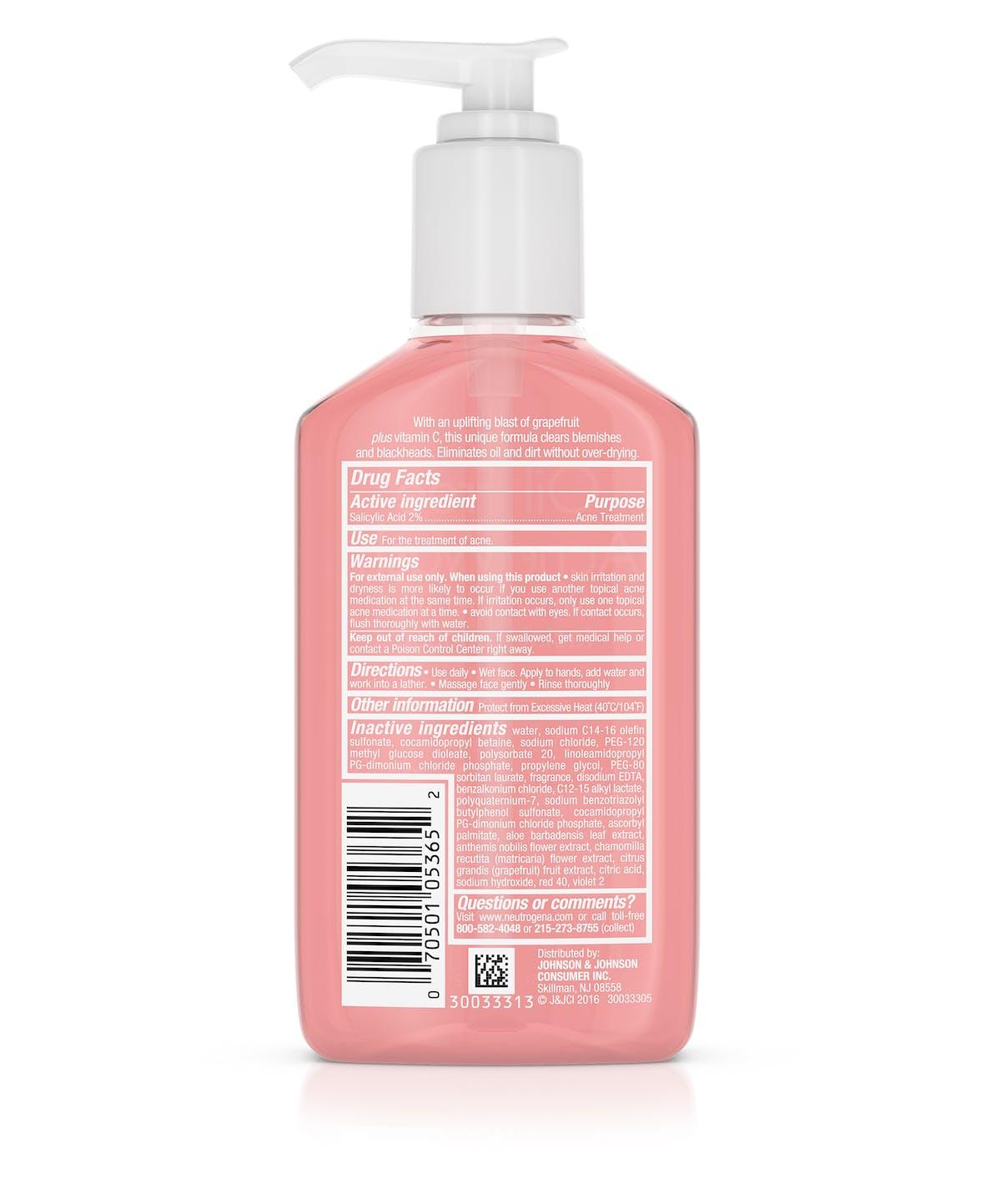 c699b9a66e Oil-Free Acne Wash Pink Grapefruit Facial Cleanser
