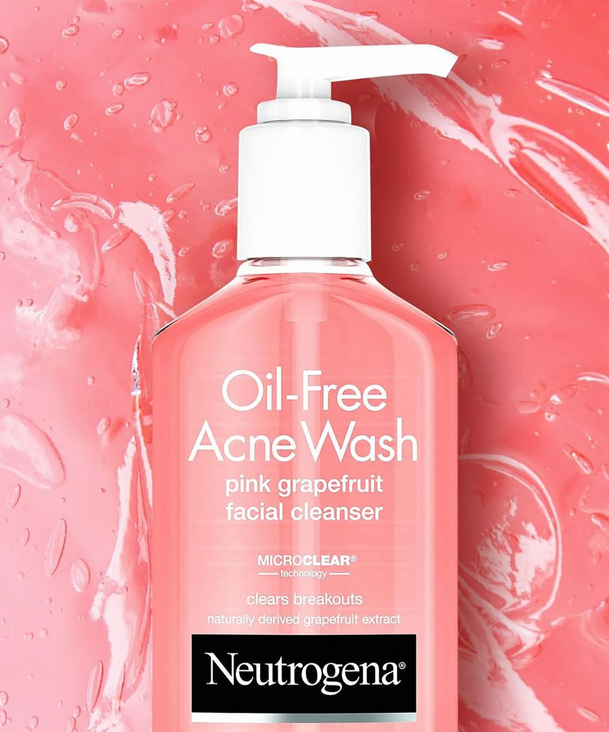... Oil-Free Acne Wash Pink Grapefruit Facial Cleanser