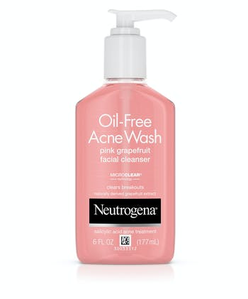 Neutrogena Pink Grapefruit Acne Face Wash & Cleanser with Vitamin C & Salicylic Acid