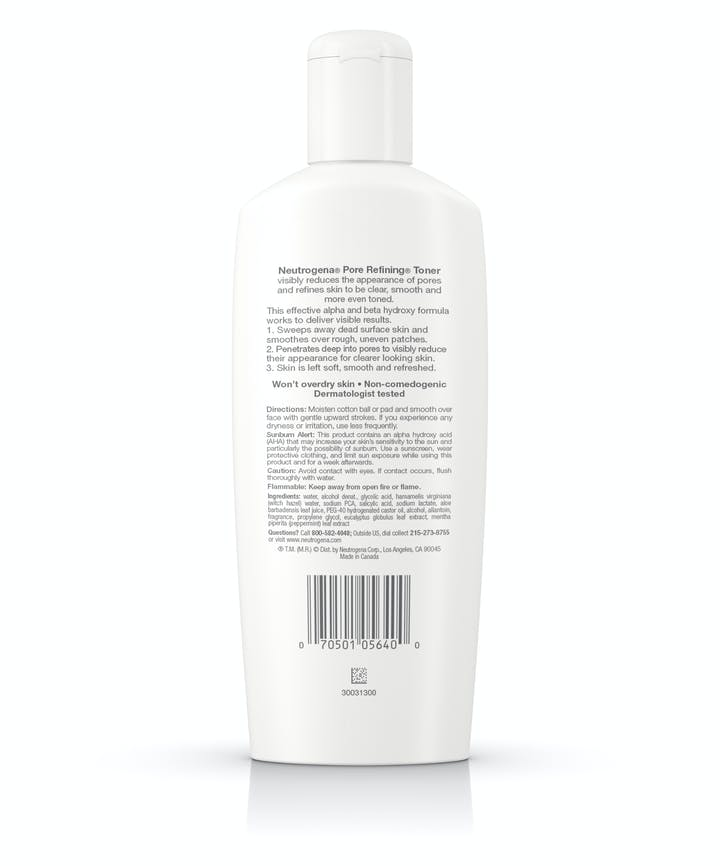 Pore Refining Face Toner With Witch Hazel, Oil-Free & Non-Comedogenic