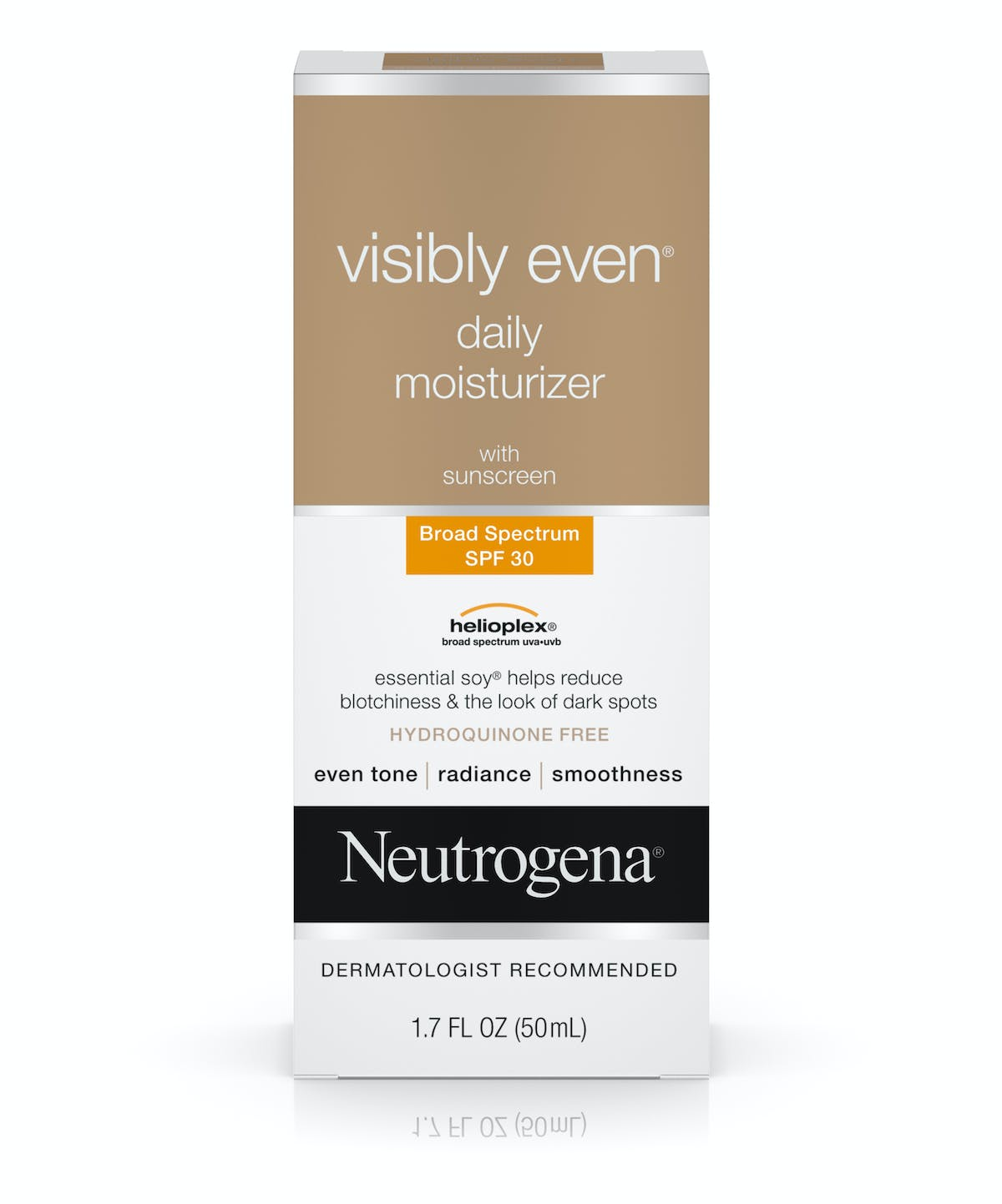 Visibly Even Daily Moisturizer With Sunscreen Spf 30 Neutrogena Cream Glow Krim Glowing Evenreg Broad Spectrum