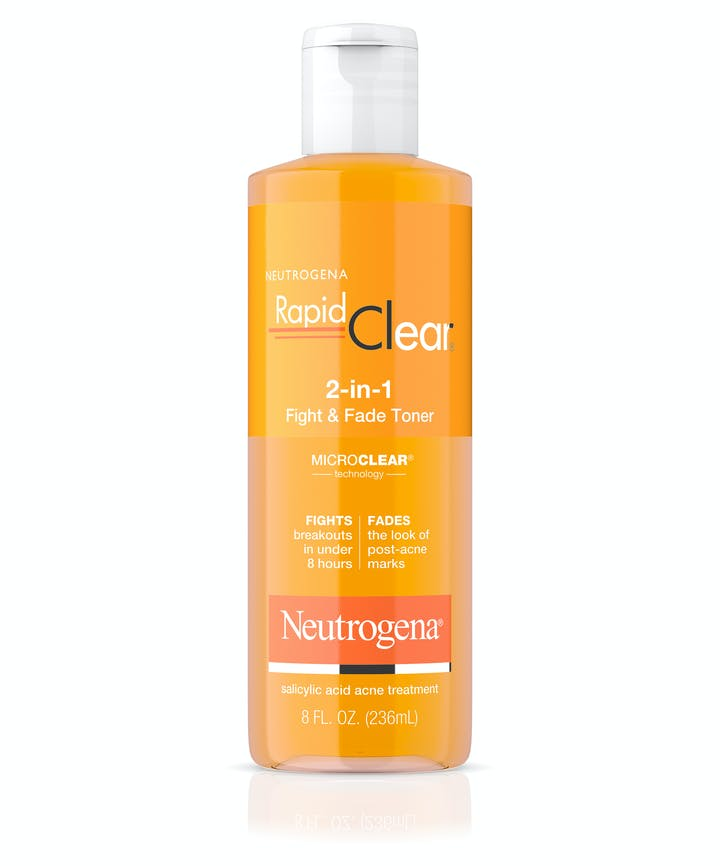 Neutrogena Rapid Clear 2-in-1 Fight & Fade Salicylic & Glycolic Acid Toner for Acne & Marks