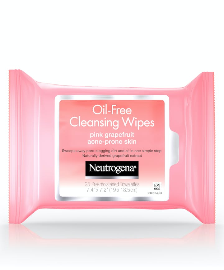 Neutrogena Oil-Free Cleansing Wipes-Pink Grapefruit