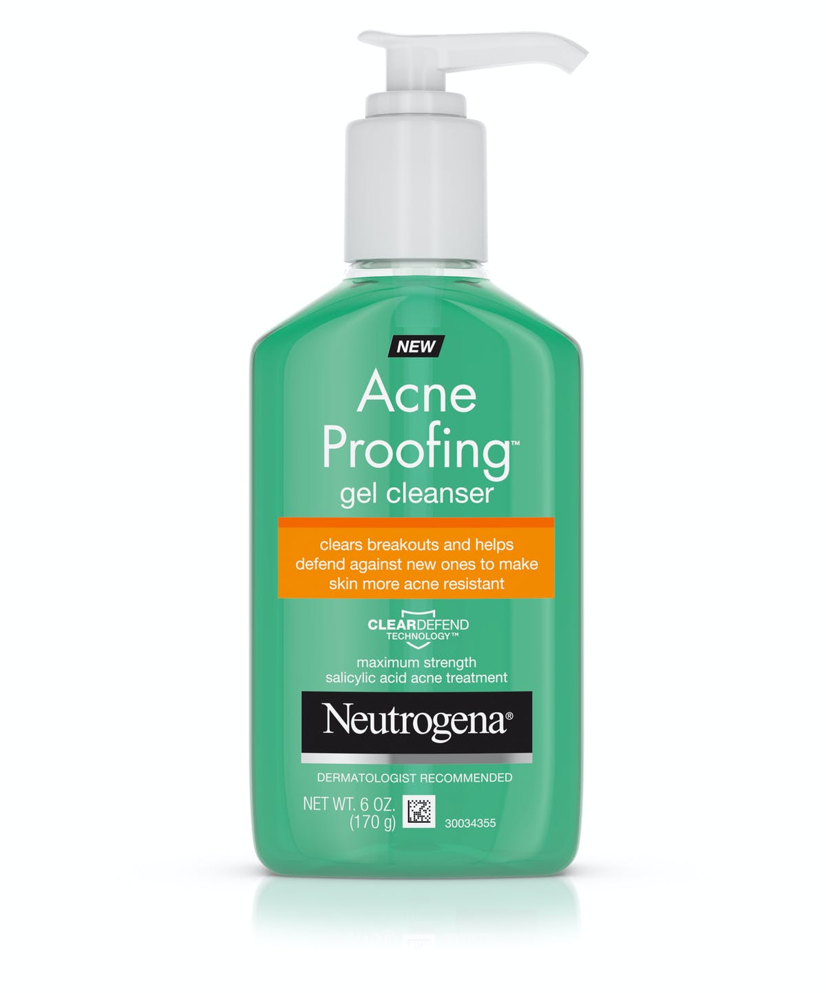Oil Free Acne Wash Gel Cleanser With Salicylic Acid Neutrogena