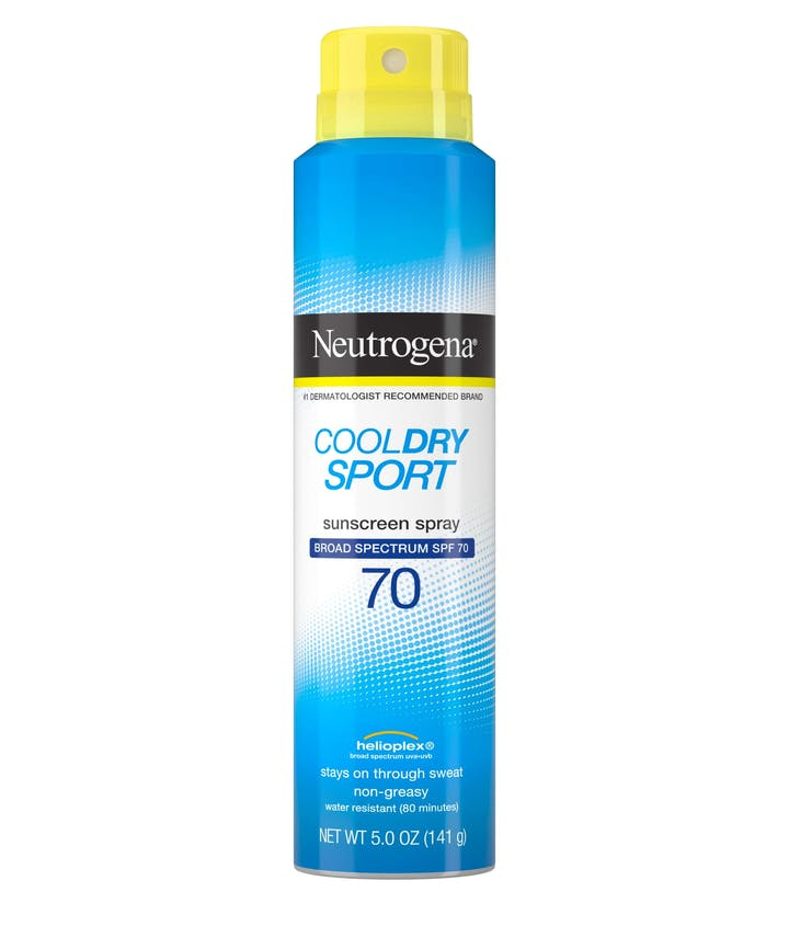 Neutrogena Cool Dry Sport Water-Resistant Sunscreen Spray, SPF 70, 5 oz