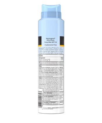 Ultra Sheer® Sunscreen Spray, SPF 45