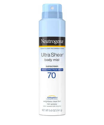 Neutrogena Ultra Sheer Lightweight Sunscreen Spray, SPF 70, 5 oz