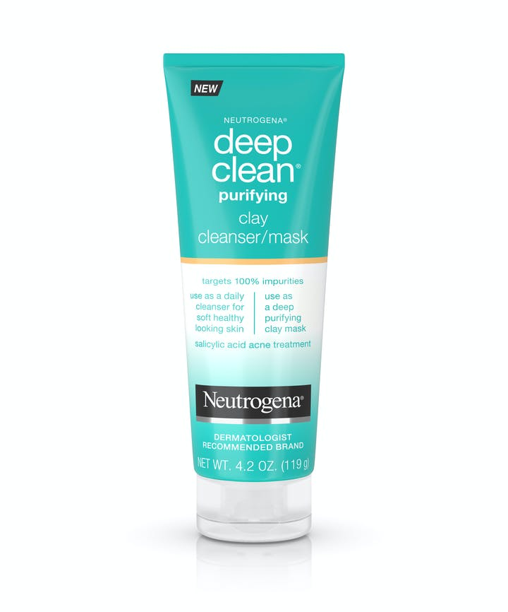 Neutrogena Deep Clean® Purifying Clay Mask & Cleanser With Salicylic Acid, Non-Comedogenic
