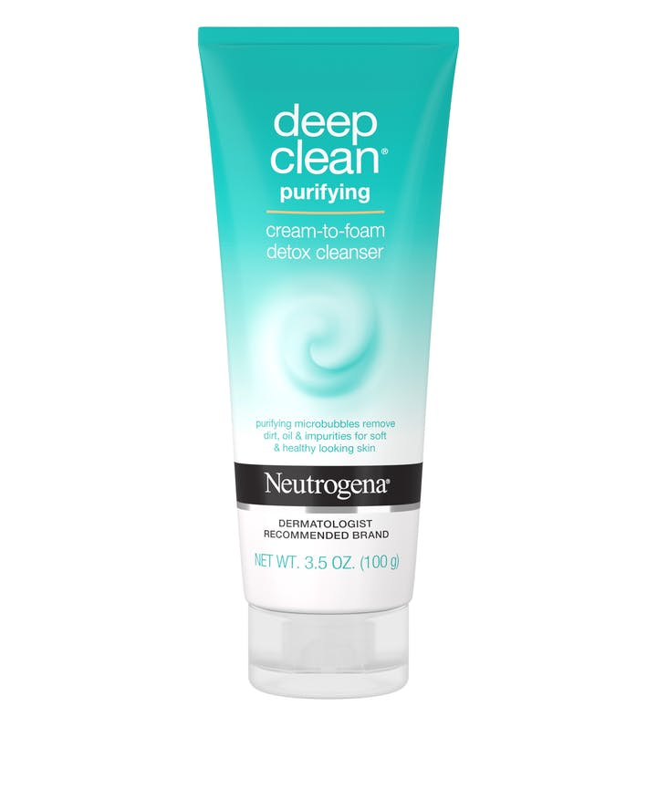 Neutrogena Deep Clean® Purifying Cream to Foam Detox Cleanser