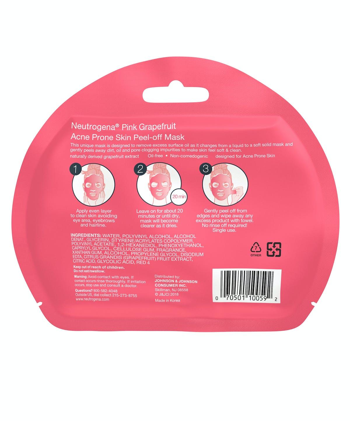 Pink Grapefruit Peel-Off Face Mask for Acne-Prone Skin | Neutrogena®