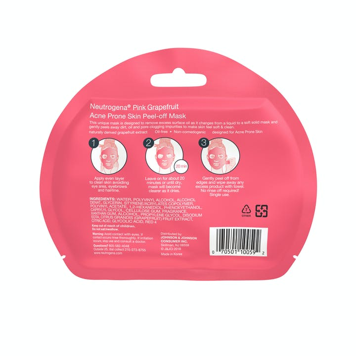 Neutrogena® Pink Grapefruit Acne Prone Skin Peel Off Mask