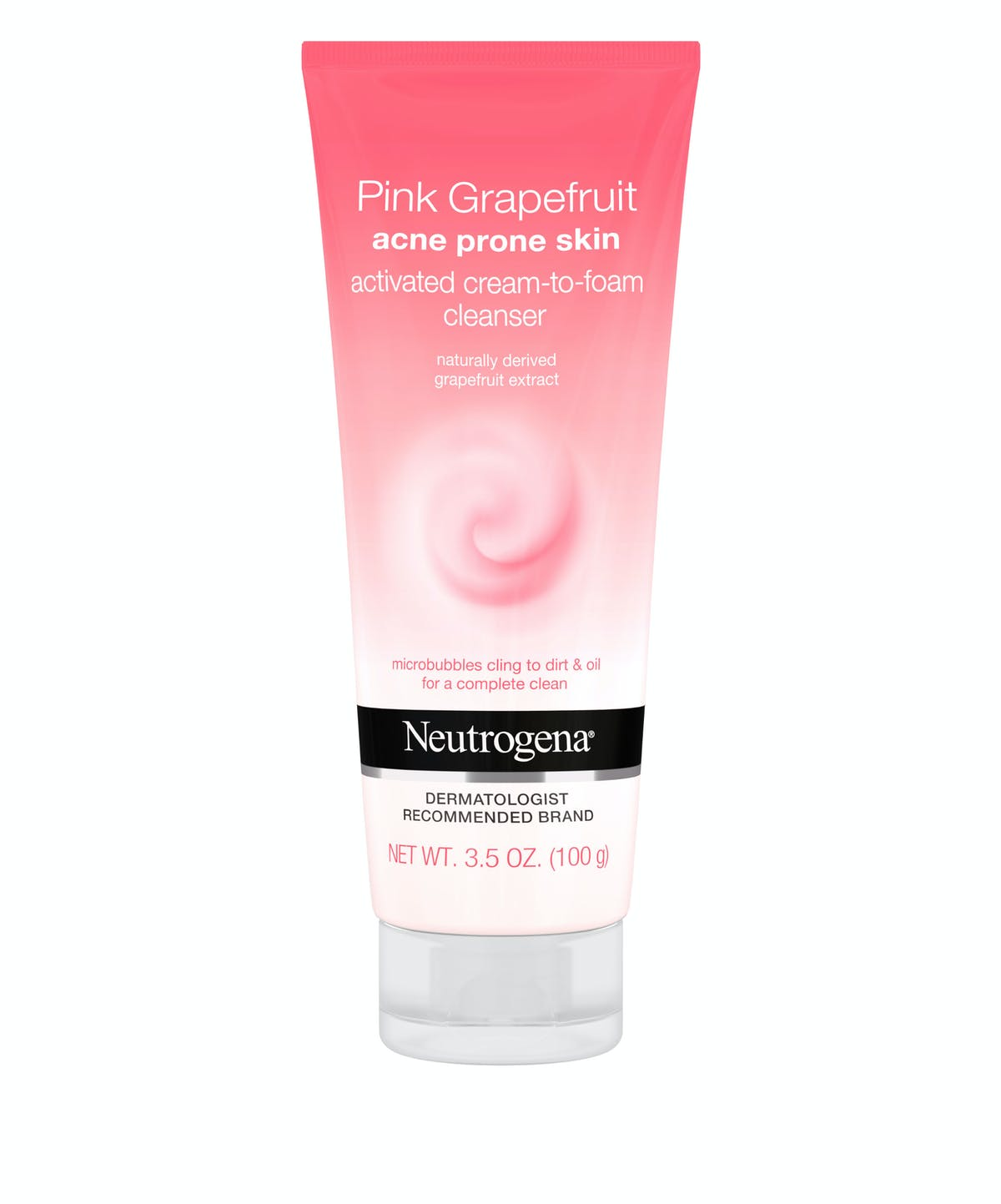 Pink Grapefruit Acne Prone Skin Activated Cream-to-Foam Cleanser by Neutrogena