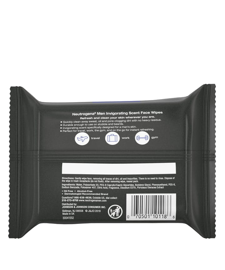 Neutrogena® Men Invigorating Scent Face Wipes