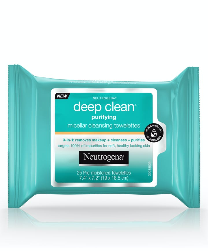 Neutrogena Deep Clean® Purifying Micellar Cleansing Towelettes