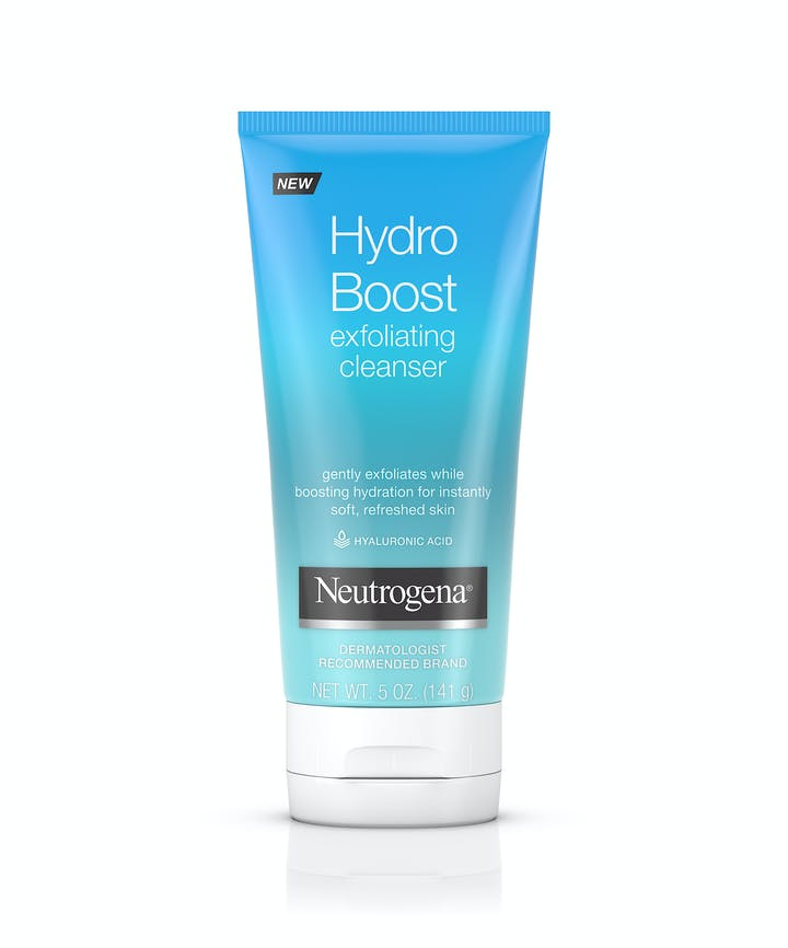 Hydro Boost Daily Gel Cream Exfoliating Cleanser with Hyaluronic Acid