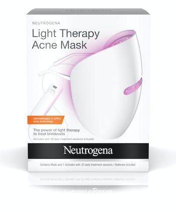 Máscara facial para acné de terapia con luz roja y azul