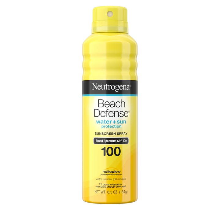 Neutrogena® Beach Defense® Water + Sun Protection Spray Broad Spectrum SPF 100, 6.5 oz