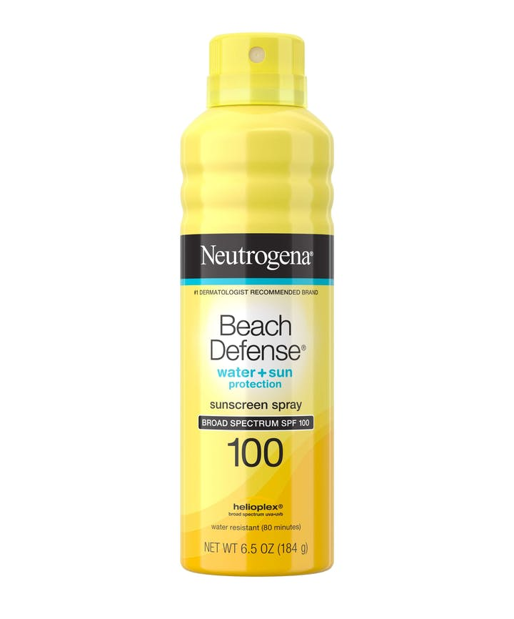 Neutrogena® Beach Defense® Water + Sun Protection Spray Broad Spectrum SPF 100, 6.5oz