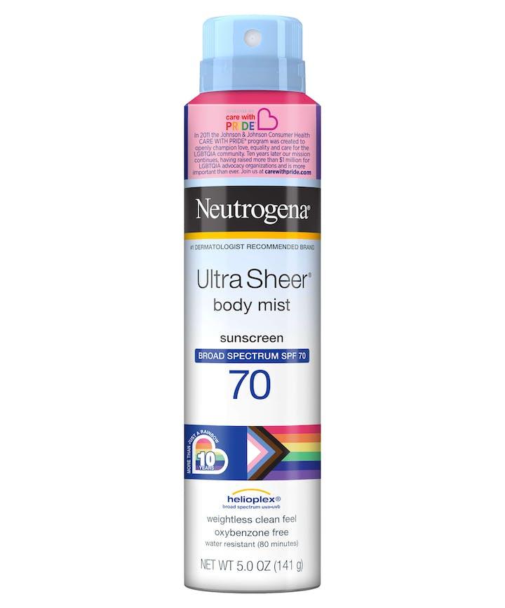 Neutrogena Neutrogena Ultra Sheer Spray SPF 70 - Limited Pride Edition