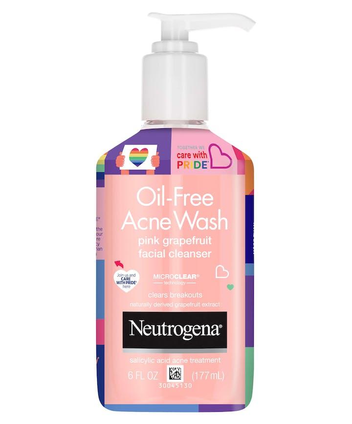 Neutrogena Neutrogena Oil Free Acne Wash Pink Grapefruit - Limited Pride Edition
