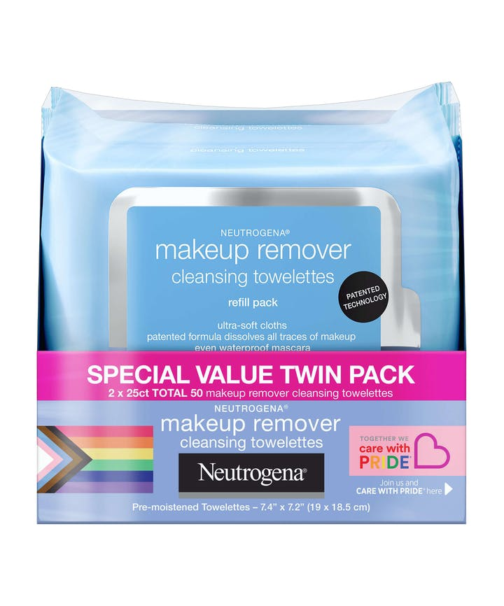 Neutrogena Ultra-Soft Makeup Remover Wipes for Waterproof Makeup - Limited Pride Edition