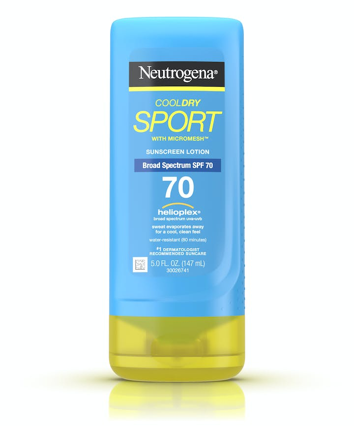 Neutrogena CoolDry Sport Sunscreen Lotion Broad Spectrum SPF 70