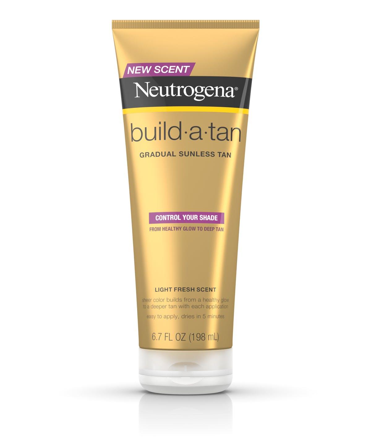 neutrogena build a tan gradual sunless tan lotion neutrogena