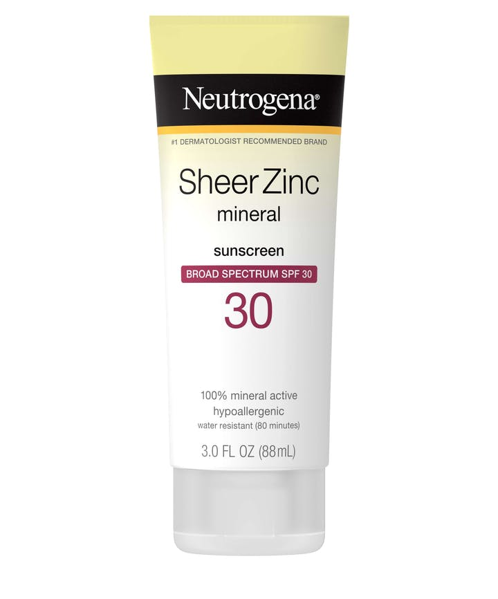 Neutrogena Sheer Zinc Dry-Touch Sunscreen Broad Spectrum SPF 30