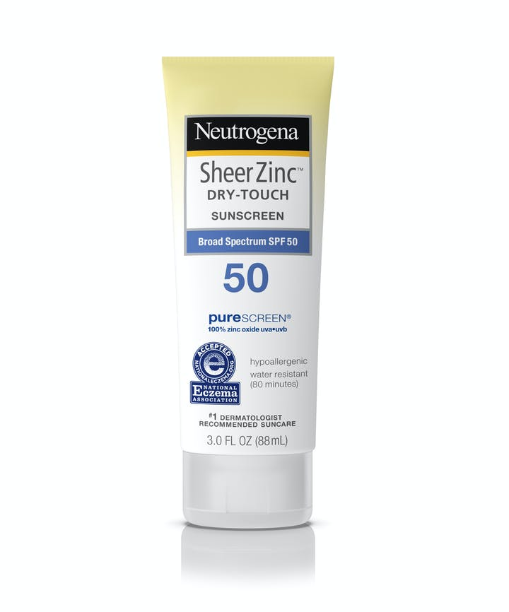 Neutrogena Sheer Zinc Dry-Touch Sunscreen Broad Spectrum SPF 50