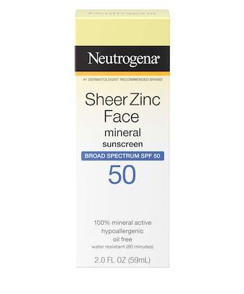 Sheer Zinc Face Dry-Touch Sunscreen Broad Spectrum SPF 50