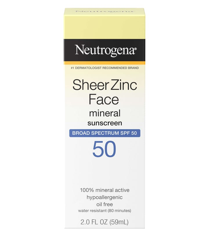 Neutrogena Sheer Zinc Face Dry-Touch Sunscreen Broad Spectrum SPF 50