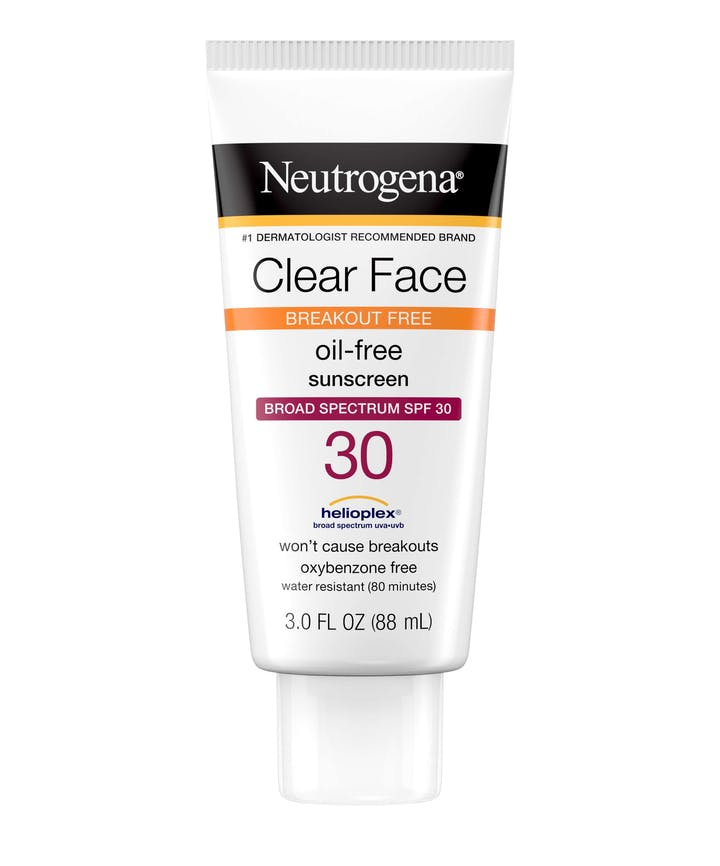 Neutrogena Clear Face Break-Out Free Liquid Lotion Sunscreen Broad Spectrum SPF 30