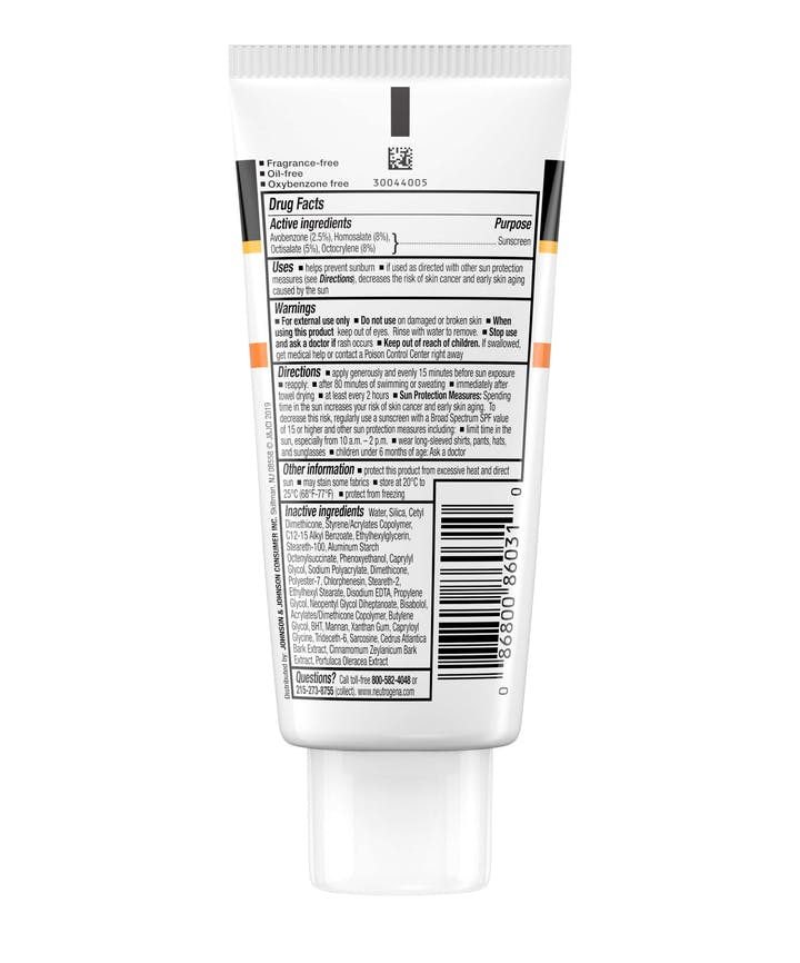 Clear Face Break-Out Free Liquid Lotion Sunscreen Broad Spectrum SPF 30
