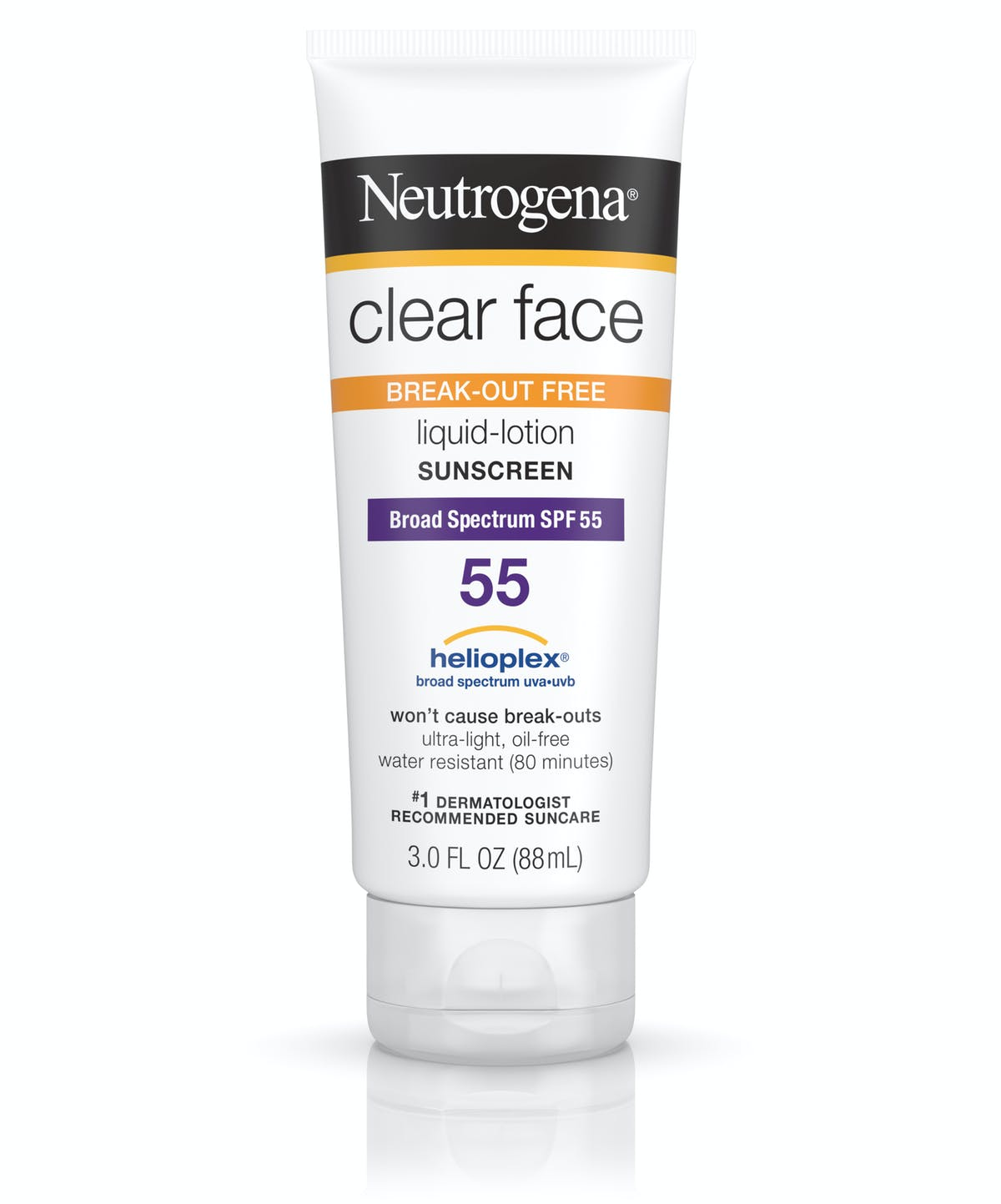 Clear Face Liquid Sunscreen Lotion For Face SPF 55