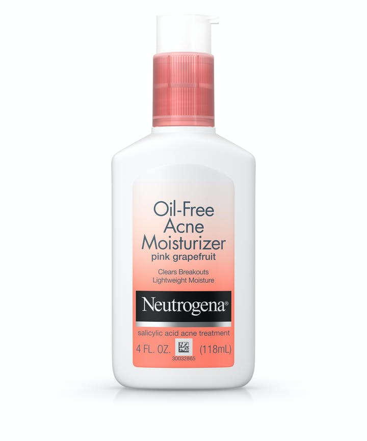 Non-Comedogenic Oil-Free Pink Grapefruit Acne Face Moisturizer with Salicylic Acid