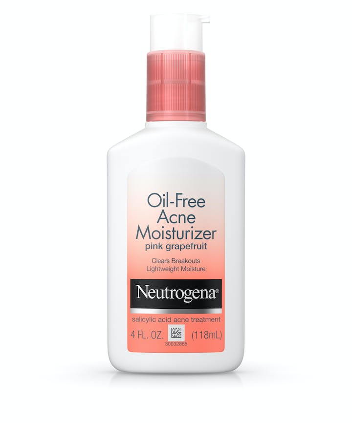 Neutrogena Non-Comedogenic Oil-Free Pink Grapefruit Acne Face Moisturizer with Salicylic Acid