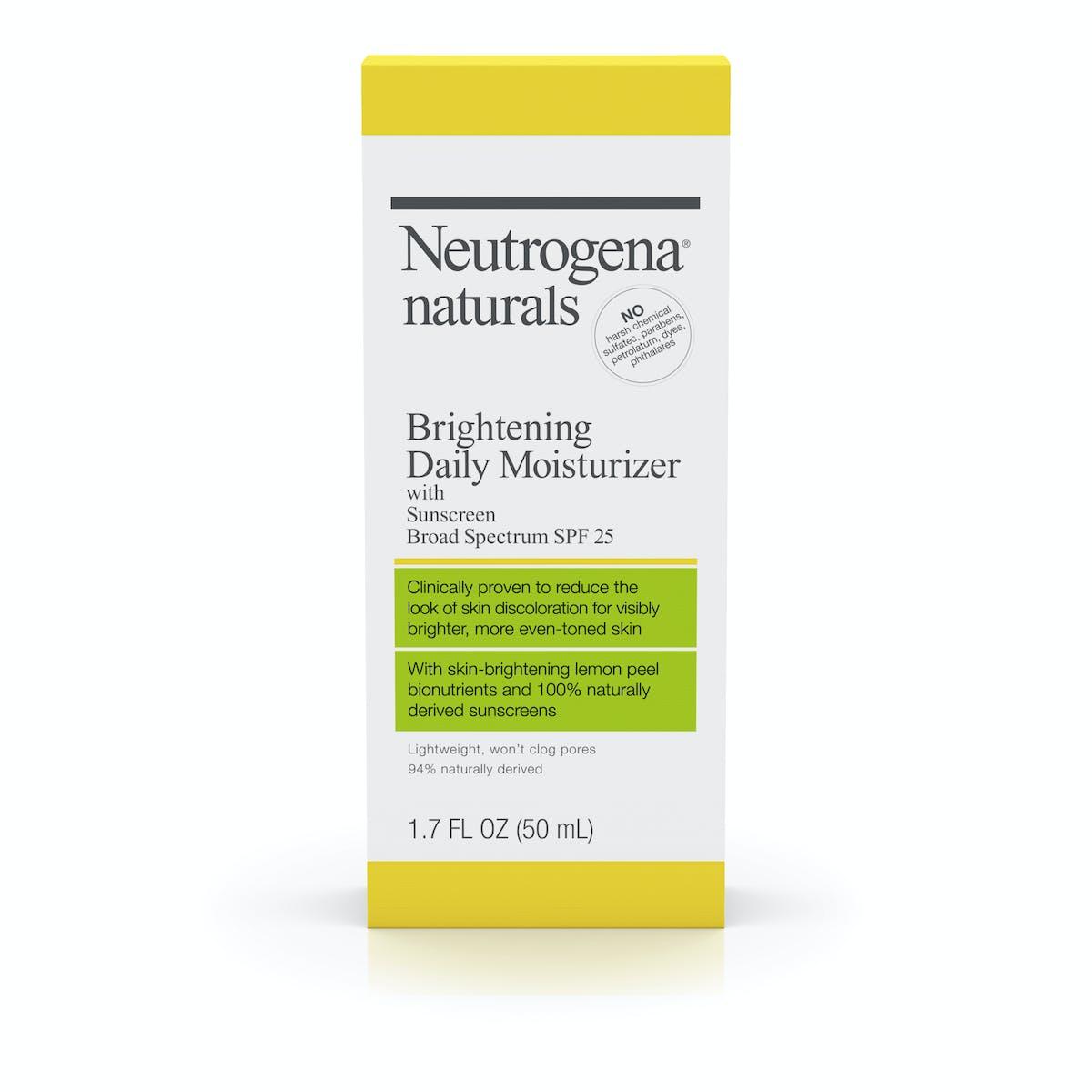 Neutrogena Naturals Brightening Daily Moisturizer With Sunscreen Broad Spectrum