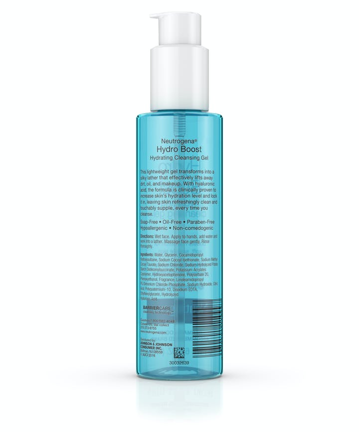 Hydro Boost Hydrating Cleansing Gel & Oil-Free Makeup Remover with Hyaluronic Acid