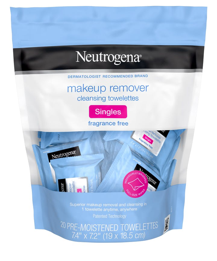 Neutrogena Makeup Remover Cleansing Towelette Singles - Fragrance Free