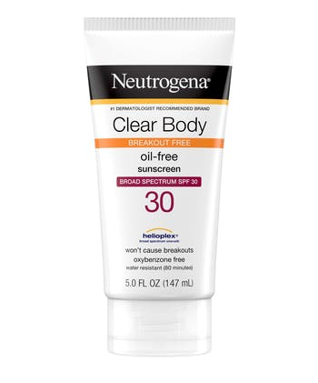 Clear Body Break-Out Free Liquid Lotion Sunscreen Broad Spectrum SPF 30